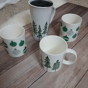 Starbucks ceramic tumbler and coffee cups